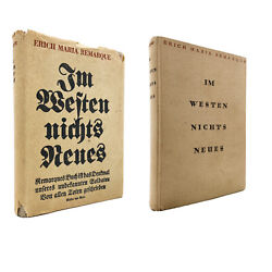 All Quiet On The Western Front Andndash True German First Edition + Dj Andndash Remarque 1930