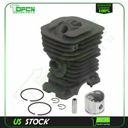 For Husqvarna 136 137 141 142 Chainsaw 38mm Cylinder And Pin Piston Assembly Kit