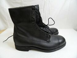 Vintage Combat Boots Mens 10.5 W Addison Shoe Co 1987 Military Steel Toe Boot