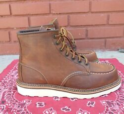 Red Wing Moc Toe Copper Rough Tough Boot 9 D Model 1907 Usa Made