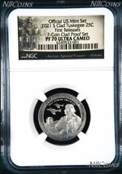 2021 S Ngc Tuskegee Airmen Clad The Last Quarter From Us Mint Proof Set Pf70