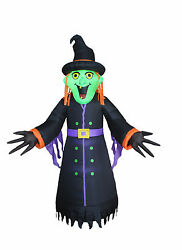 8 Foot Halloween Inflatable Led Lights Air Blown Yard Decoration Witch Monster