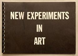 New Experiments In Art Andy Warhol Rare Early Group Show 1963 Exhib Catalog Art