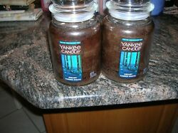 YANKEE CANDLES 2 22 0Z DREAMY SUMMER NIGHTS BEAUTIFUL WOODY AND AMBER SCENT