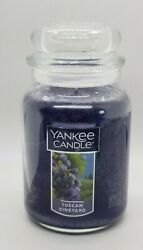 YANKEE CANDLE 22oz LARGE JAR FRUIT COLLECTION TUSCAN VINEYARD SCENT NEW TAG