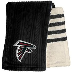Atlanta Falcons 60and039and039 X 70and039and039 Cable Knit Sherpa Stripe Plush Blanket