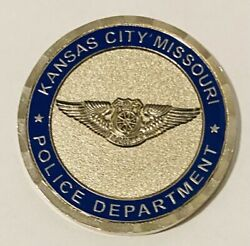 Sought After-unique-kansas City Missouri Police-motorcycle-police Challenge Coin