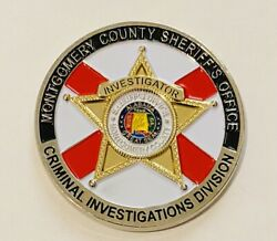 Sought After-unique-montgomery County Alabama Sheriff -police Challenge Coin