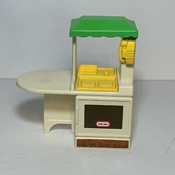 Vintage 1989 Little Tikes Party Kitchen Doll House Furniture Counter Stove Toy