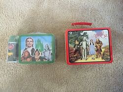 Lot Of Wizard Of Oz Metal Lunch Boxes Purse Pez Collection Vintage Rare Dorothy