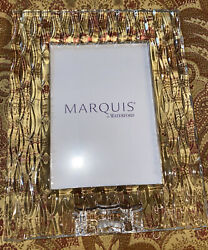 Marquis Waterford Crystal Picture Frame 5 X 7 Rainfall Design Made In Germany