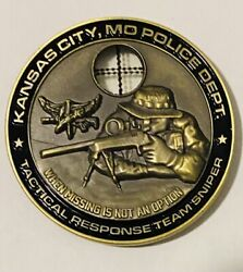 Sought After-unique-kansas City Montana Police-sniper-police Challenge Coin