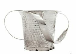 Fine Italian 925 Sterling Silver Handcrafted Hammered Engraved Wash Cup