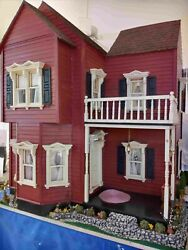 Vintage Victorian Dollhouse Fully Restored Beautifully Furnished