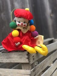 Juggling Clown Wind Up Vintage Music Box Moving Head Victoria Impex Vintage