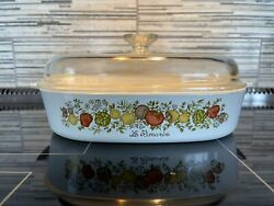 Vintage Corning Ware W/ Pyrex Lid Spice Of Life Le Romarin A-10-b Rare