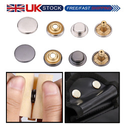 12.5mm Snap Fasteners Press Studs Buttons Brass For Diy Crafts Bags Sew Clothing
