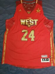 Kobe Bryant 2011 Nba All-star Game West Authentic Pro Cut Jersey Adidas Rare 3xl