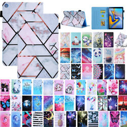 For Samsung Tab 8 Sm-t290 T510 T500 T500 Painted Flip Leather Card Case Cover