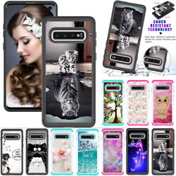 For Samsung S7 S20 Note 9 A51 Leather Wallet Flip Magnetic Back Cover Case