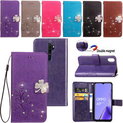 Oppo Reno 5g R11 R17 Ax5 Bling Diamond Flip Leather Magnetic Wallet Case Cover