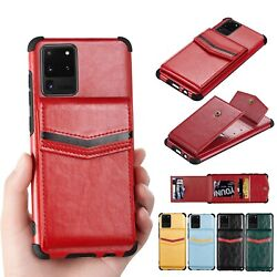 For Samsung Galaxy Models Leather Wallet Flip Hard Silicon Back Cover Case