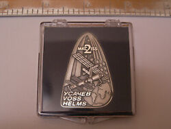 Expedition 2 Silver Robbins Medal/medallion Unflown Space Shuttle Sts Iss Nasa