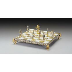 The Florentine Renassaince Extremely Luxurious Chess Set From Bronze Finished U