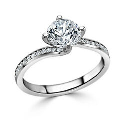 0.70 Carat Real Diamond Engagement Ring Solide 950 Platine Pour Femme Taille M P