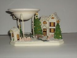 Yankee Candle Christmas Village Warmer House Trees Bridge