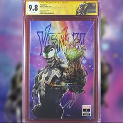 Venom 7 Crain Variant Cover Cgc 9.8 Ss Signed By Clayton Crain And Donny Cates