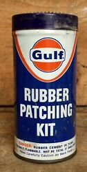 Vintage Gulf Rubber Patch Tube Repair Kit Tin Can Gas And Oil Advertising