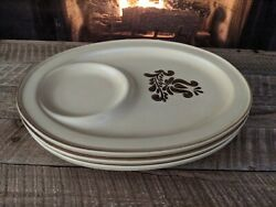 Pfaltzgraff Village Snack Trays Great Replacement Or Addition Rare 039