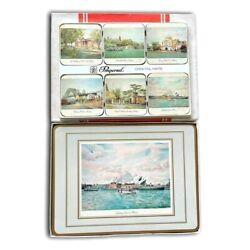 Pimpernel Vintage Acrylic 6pcs Placemats And Coasters Of Sydney Icons - Made In Uk