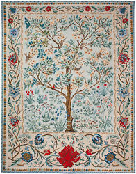 Tree Of Life Beige William Morris Medieval Large Tapestry Wallhanging 116x94