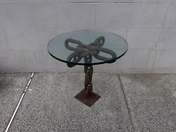 Antique Nautical Americana Ships Chain Table Naval Historical