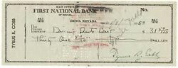 Ty Cobb Signed 1950 Personal Check Jsa Certified Authentic Autograph Auto