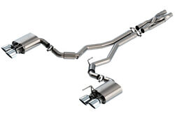 Borla 2020 For Ford Gt500 5.2l At 3in Atak Catback Exhaust W/ Chrome Tips - 1408