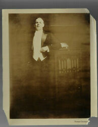 Old Real Photo Of Edison Phonograph And Opera Star Thomas Chalmers 1920s Fashion