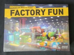 Factory Fun Board Game + Essen And03909 Mini Exp By Z-man New Sealed Oop Rare