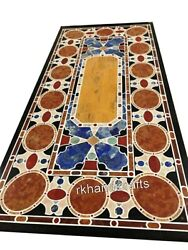 30 X 60 Inches Marble Office Table Top Hand Crafted Dining Table Luxurious Look