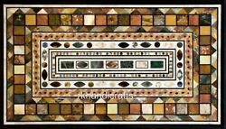 Multi Stones Royal Art Island Table Top Marble Coffee Table Size 30 X 48 Inches