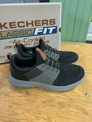 New Skechers Menand039s 2021 Delson 3.0 Classic Fit Sneaker Black Athletic Pick Size