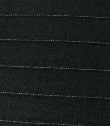 """20 Yds Total Suit Weight Material 56"""" Wide Black Pin Strip Polyester Fabric"""