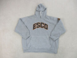 Vintage Esco Sweater Adult 2xl Xxl Gray Blue Spell Out Willie Esco Nas Mens 90s