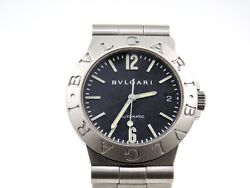 Bvlgari 35.50mm. Diagono Automatic Stainless Steel Menand039s Vintage Watch 90and039s