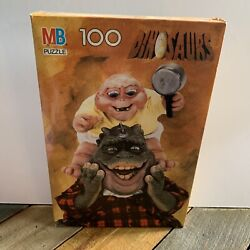 New Vintage Dinosaurs Tv Show Mb Puzzle 100 Piece Sinclair Baby Mama Sealed Nib