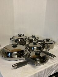 Kitchen Charm Collection Surgical Stainless Steel Waterless Cookware Pan Pot Set