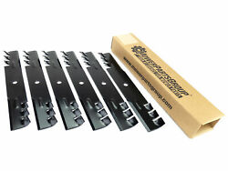 6 - Usa Mower Blades 16-1/4 X 2-1/2 X 0.204, 5/8 Center Hole Commercial Tooth