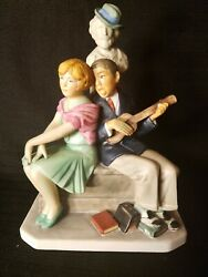 Gorham Serenade Norman Rockwell's Cover Painting Figurine Porcelain Limited